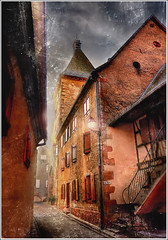 Dickens' World (Jean-Michel Priaux) Tags: old house france art texture rock architecture illustration night photoshop dark painting way scary construction nikon kill village fear dream dramatic twist peinture dreaming killer alsace horror mystical ruelle dickens scare rue hdr mystic mystique anotherworld charlesdickens terrific peur conte lugubre d90 olivertwist bergheim effrayant mystrieux outstandingshots priaux texured memoriesbook vanagram postreatment francesmasterpieces lightiq