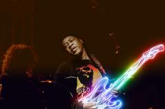 Little Boy Blues (Karnevil) Tags: usa photoshop nc concert nikon guitar livemusic northcarolina axe d300 kickassguitarist lincolntheatre neoneffect triumphsong