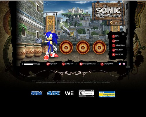 Sonic and the Black Knight Microsite
