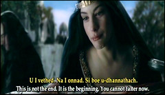 Arwen mourns her dead husband