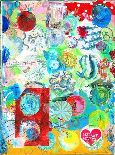 Art journal page - Calling (copyright Hanna Andersson)