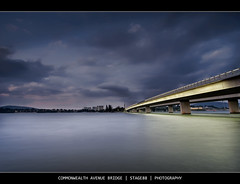Commonwealth Avenue Bridge (Sam Ili) Tags: bridge sunset sky lake color building water architecture night clouds canon australia canberra griffin hdr burley lucisart explored 450d redbubble australianphotographerscomp canon1022mm3545
