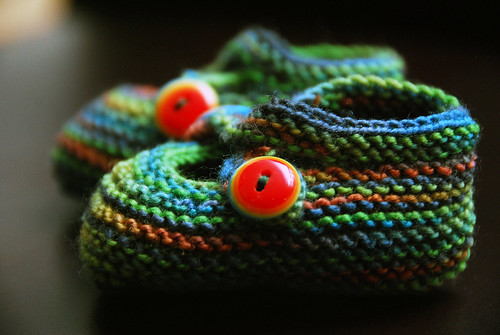 Rainbow Booties - Finished!