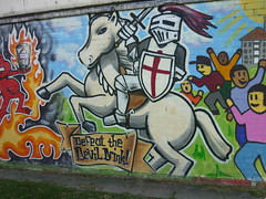 Defeat the devil drink - white horse (lydia_shiningbrightly) Tags: streetart beer youth graffiti community alcohol booze vodka coventry youthcentre housingestates thura tilehill jype