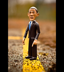US President Barack Obama Says He's On The Road To Recovery... (Komatoes) Tags: uk toy actionfigure 50mm us nikon bokeh president devon exeter barackobama d40 sorryaboutthebadtitlejoke