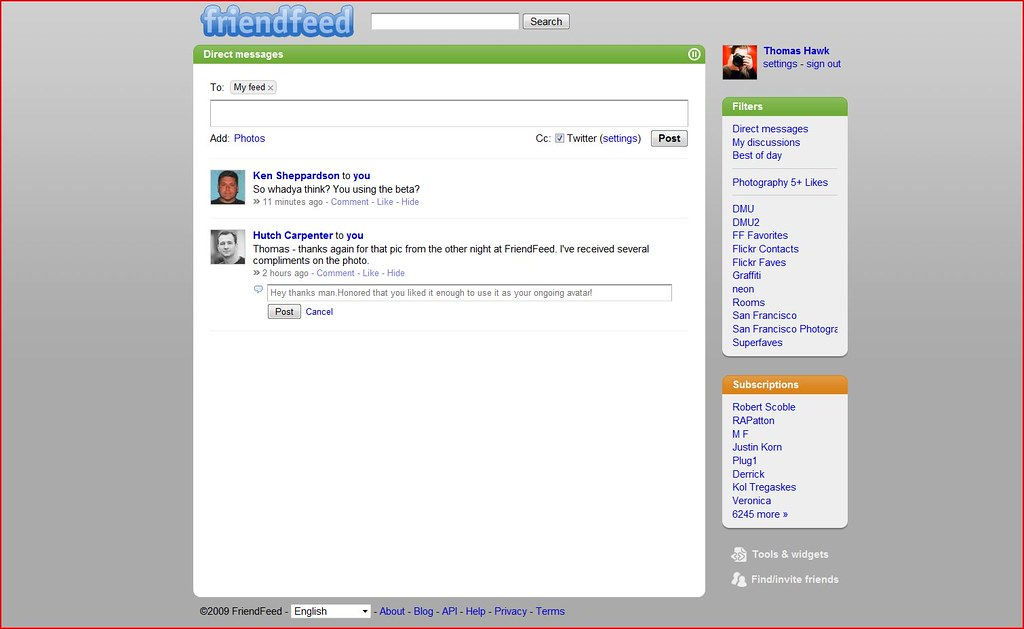Direct Messaging on FriendFeed