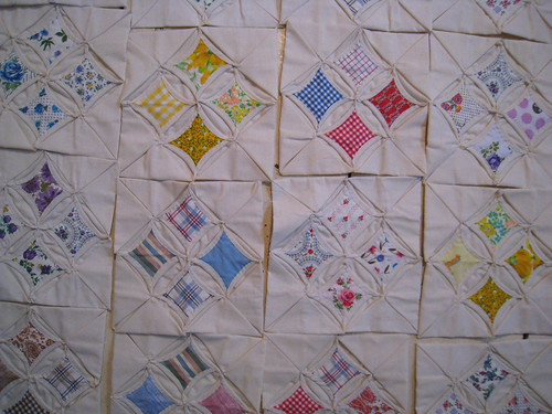 Catherdral Quilt Squares from Grandma