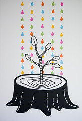 Growth Final (invisibleElement) Tags: white black color tree rain painting drops paint acrylic grow invisibleelement