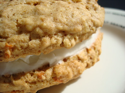 Carrot cake cookie sandwich
