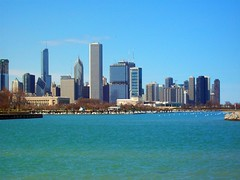 Chicago Skyline (El_Sol) Tags: blue trees sky chicago water buildings boats lakemichigan lakeshore lakefront