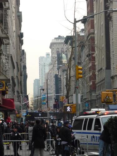 Fifth Avenue, New School student protest, scene