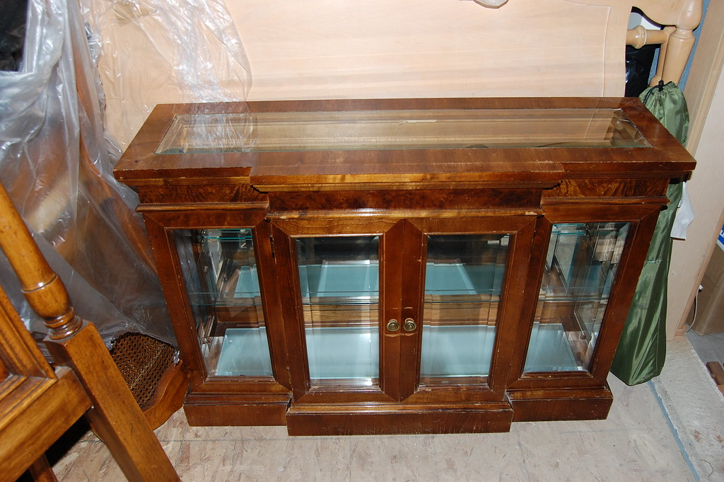 Glass/Wood End Table Menagerie