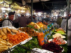 Marrakech Food Stall (Benedict W) Tags: morocco marrakech souks djemaaelfna