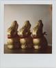 Three Golden Bunnies (futurowoman) Tags: bunnies easter polaroid sx70 gold golden yum candy chocolate easterbunny blend lindt sx70blendfilm