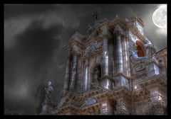 Moonlight Kiss :: Duomo of Siracusa (Gio  Photostream) Tags: camera bridge lumix 1 photo bravo mood foto shot zoom photos mark contest panasonic di 5d duomo 1ds better luminous hdr siracusa ragusa ortigia fotocamera superzoom 3xp migliore photomatix 18x tonemapping tonemap colorphotoaward frhwofavs fz28 reflectyourworld dmcfz28 giorgioleggio