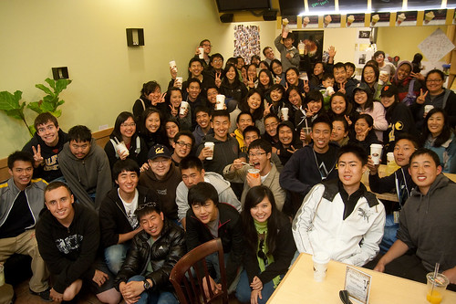 a2fBlue Group Picture inside of Tapioca Express