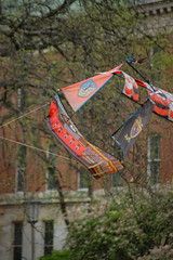 Pirate ship kite flying over the main quad (Johnny Heger) Tags: college campus illinois spring universityofillinois urbana champaign uofi chipsi