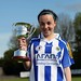 Ballyboden captain Jessica Nugent with Cup