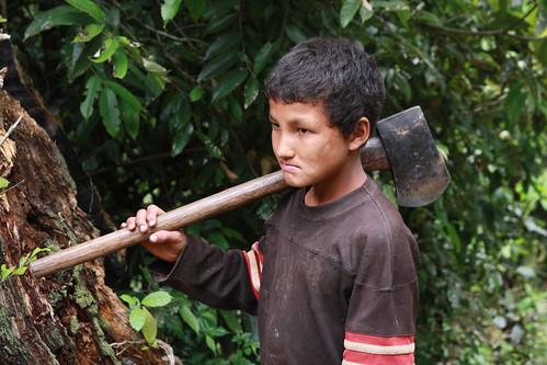 A young axe man