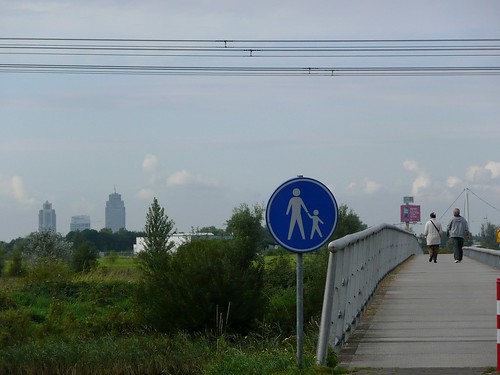 Looking from Ijburg towards Amsterdam Zuid and RAI