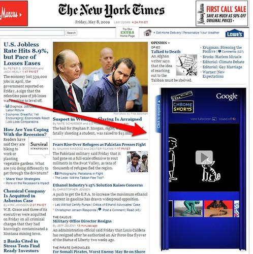 Google Chrome Ad On New York Times