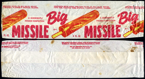 Big Missle - frozen treat wrapper - 1970's by JasonLiebig