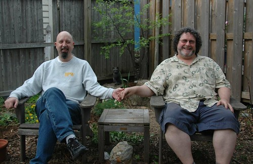 Flatbush Gardener (right) and Blog Widow