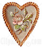 28815-Clipart-Picture-Of-A-Vintage-Valentine-Of-A-Rose-And-Blossoms-On-A-Heart-Circa-1890