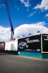 Il cielo in una macchina (odieresis) Tags: sky rome advertising crane mini cielo mercato adv gru cantiere testaccio streetadvertising 6x3 mattatoio ilcieloinunamacchina
