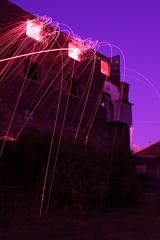 evolved flammable gases ({ tcb }) Tags: show longexposure nightphotography light urban building abandoned minnesota night fire photography amazing fireworks surreal unreal sparks exploration patience urbex lapp longexposurefireworks lightartperformancephotography
