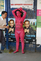 Andy Golub: bodypainting (j-No) Tags: show nyc girls party people sculpture ny newyork art fashion collage painting print fun photography sketch video graphics women chelsea artist gallery legs drawing manhattan assemblage crowd drinking culture style scene event reception alcohol installation trendy gathering booze opening bodypainting hip cultural jno nytcap