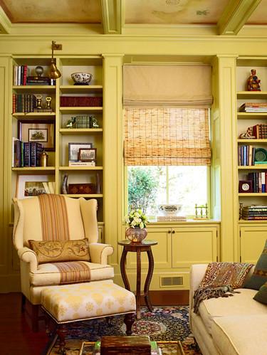 Yellow living room: Benjamin Moore 'Henderson Buff'