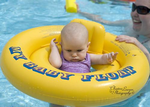 Maddie's First Swim