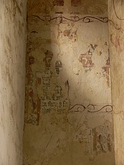 Example of over painted fresco