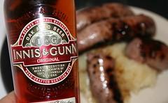 Crombie's Innis & Gunn sausages with Innis & Gunn beer