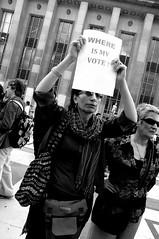Where is my Vote ? ~     (h de c) Tags: paris france hope democracy support iran eiffeltower protest anger toureiffel iranian dictator elections trocadero manif manifestation dictateur   soutien   ahmedinejad   rassemblement    moussavi  iranien islamicrepublicofiran   dmocracie     whereismyvote