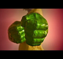 Don't Mess With The Incredible Hulk (Hands!) =) (Komatoes) Tags: green 50mm hands nikon bokeh explore hulkhands hulk pow nikkor f18 452 incredible theincrediblehulk greenhulk brucebanner d40 nikond40 247bokehlife
