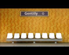 Gare de Gentilly (Filor) Tags: birthday b paris france station yellow canon bench underground subway de europa europe metro seat tube minimal powershot val seats minimalism 18 seating sedie stazione francia metropolitana ratp ille rer parigi gentilly panchina marne explora g9 explored esplora filor