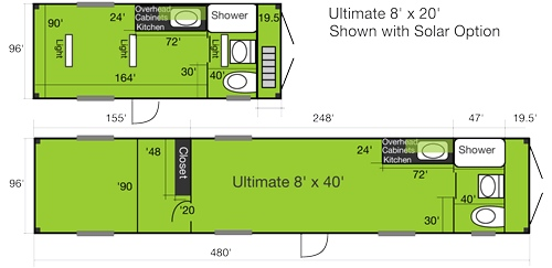 container housing plans. Container House Floor Plan