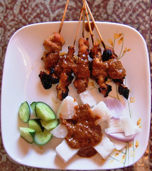 A Delicacy -EXPLORED- (Neo Rantissi [extremely busy!]) Tags: food chicken cake cuisine nikon rice cucumber plate delicious eat meal onion ate satay makan skewer delicacy ricecake bawang sate makanan d40 fingerlickinggood palatable timun nasihimpit pinggan nasiimpit