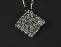 """Abstract Flower"" Silver Necklace (EfratJewelry) Tags: silver handmade jewelry jewellery sterling 925 oxidized silversmith metalsmith sterlingsilver כסף סטרלינג תכשיטים שרשרת תליון תליונים שרשראות צורפות עיצובתכשיטים efratjewelry"