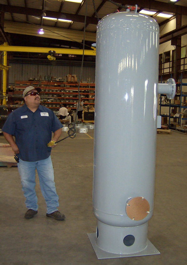 "26"" Hot Water Expansion Tank for a Compressor Station"