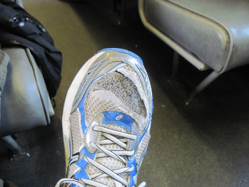 Tore My Sneaker on Mountain Bike Trip