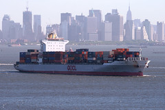 OOCL KOBE in New York, USA. June, 2011 (Tom Turner - SeaTeamImages / AirTeamImages) Tags: city nyc usa newyork water skyline port bay harbor marine ship unitedstates harbour manhattan transport vessel spot cargo container pony kobe maritime transportation manhattanskyline statenisland containership bigapple channel spotting staten waterway oocl tomturner ooclkobe