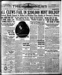 1922 Great Mint Robbery