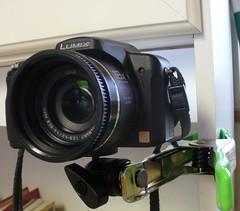 Panasonic Lumix DMC-FZ18 on DIY superclamp