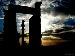 Persepolis Sunset I (Ayda Ab) Tags: sunset wow persian gate iran great persia shiraz pers