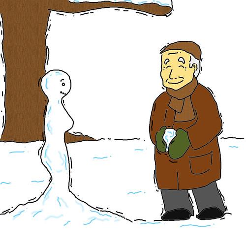 El abuelo y la nieve