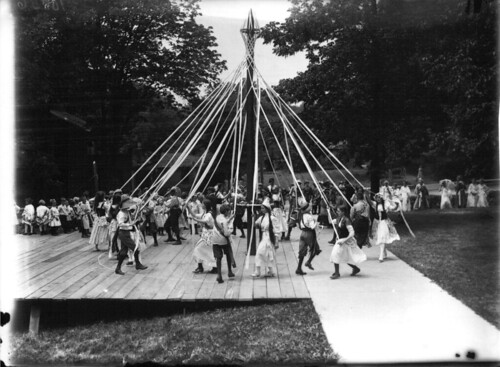 May pole dance at Ohio State Normal College Model School May Day celebration 1911 by Miami U. Libraries - Digital Collections.