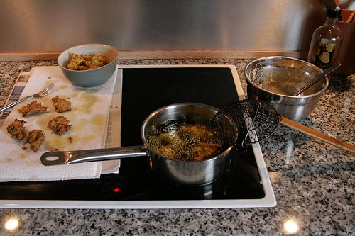 cooking bhaji